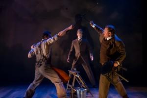 TheManWhoMurderedSherlockHolmes, 2 - Matthew Keffer (Prison Gov), Nick Sandys (Holmes), Michael Aaron Lindner (Doyle)