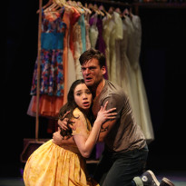 Zoe Nadal plays Maria and Will Skrip is Tony in West Side Story, playing now through April 24, 2016 at the Paramount Theatre, 23 E. Galena Blvd., Aurora. For tickets and information, go to ParamountAurora.com or call (630) 896-6666. Photo credit: Liz Lauren.