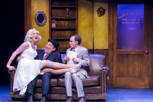 MercuryTheaterChicago, The Producers - Allison Sill (Ulla), Bill Larkin (Max Bialystock), Matt Crowle (Leo Bloom)