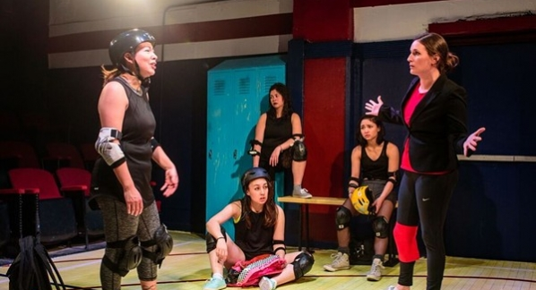 """""""For the Love of (or, the Roller Derby Play)"""" reviewed by Carol Moore"""